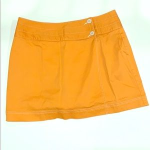 Liz Claiborne Orange Mini Skort